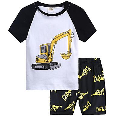 4f503c1e3fc85 hesapli Erkek Çocuk Kıyafetleri-Toddler Genç Erkek Temel Solid Kısa Kollu  Polyester Kıyafet Seti Beyaz