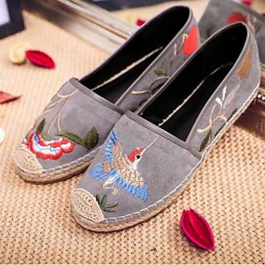 Plat Talon fermé Noir Daim Femme Confort Ballerines été Gris Printemps Bout Chaussures 06770046 yaBgvq4R
