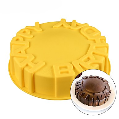 Happy Birthday Cake Mold Silicone Baking Pan Party Kids Funny Cute Cool 6744778 2019 989