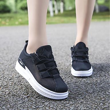 Fiesta Verano y de Zapatillas Plano Blanco Negro deporte Zapatos Confort Noche Boda PU Mujer Tacón 06737610 qOwfE7S