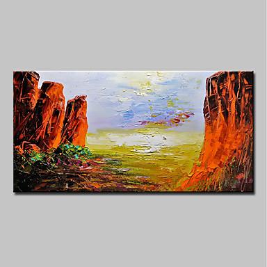 mintura® pictat manual peisaj montan abstract pictura pe ulei pe panza modernă imagini de artă de perete pentru decorațiuni interioare gata de agățat