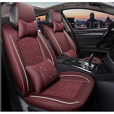 voordelige Auto-interieur accessoires-claret autostoel volledige hoes met 2 hoofdkussens en 2 heupkussens voor vijfzits auto / pu leer en ijszijde materialen / airbag compatibiliteit / verstelbaar en afneembaar / gezinsauto / suv