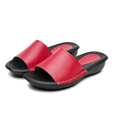 amp; Argent Talon Femme Tongs été Rouge Chaussures Cuir Chaussons 06717590 Printemps Confort Marron Plat TxwnvFYqHw