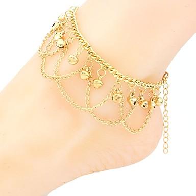 voordelige Dames Sieraden-Dames Enkelring voeten sieraden Bel Statement Dames Bohémien Modieus Boho Enkelring Sieraden Goud Voor Feestdagen Festival
