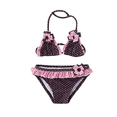 cheap Girls' Swimwear-Toddler Girls' Beach Polka Dot Sleeveless Swimwear Blushing Pink