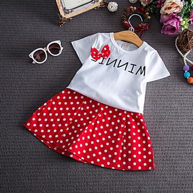 Copii Fete Buline / Imprimeu Manșon scurt Set Îmbrăcăminte