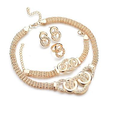 Pentru femei Set bijuterii - Donuts, Cercul Twist Clasic, Modă Include Brățări Bangle / Cercei Stud / Coliere cu Pandativ Auriu Pentru Zilnic / Inel / Σκουλαρίκια