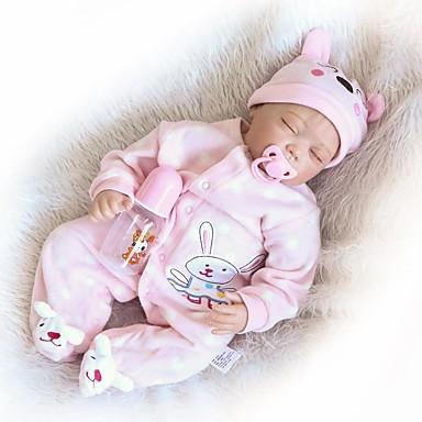 NPKCOLLECTION NPK-PUPPE Lebensechte Puppe Mädchen Puppe Baby Mädchen 24 Zoll Silikon - Neugeborenes lebensecht Geschenk Kindersicherung Non Toxic Gekippte und versiegelte Nägel Kinder Mädchen