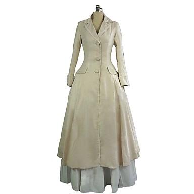 Rococo Βικτωριανής Εποχής Costume Pentru femei Ținute Costume petrecere Bej Vintage Cosplay 50% Bumbac / 50% Poliester Manșon Lung Juliet Haine Bal