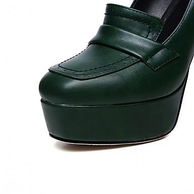 06765319 Chaussures rond Femme Noir Escarpin Bout Basique Chaussures Talon Vert Polyuréthane Bottier Printemps été à Talons r47nqZ4Y