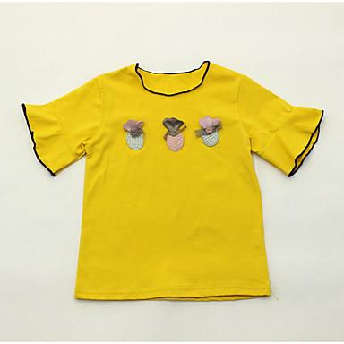 Bambino Da Ragazza Essenziale Quotidiano Con Stampe Manica Corta Standard Poliestere T-shirt Rosa - Bambino (1-4 Anni) #06762386 Ampia Fornitura E Consegna Rapida