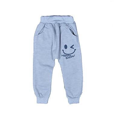 baratos Calças para Meninos-Bébé Para Meninos Básico Diário Esportes Estampado Estampado Algodão Calças Azul Marinha