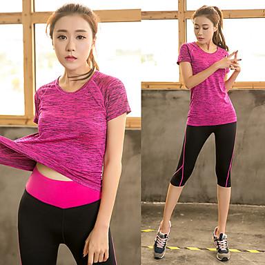 b01ca7099 Mujer Pantalones de yoga con parte superior Deportes Licra Camiseta  Pantalones / Sobrepantalón Trajes de Yoga