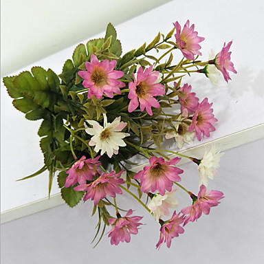Artificial Flowers 1 Branch Classic Modern / Contemporary / Traditional Daisies Tabletop Flower