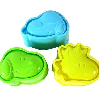 Instrumente de coacere Plastic Draguț / Reparații Biscuiți / pentru Rice / pentru Candy Materiale pentru torturi / Instrumente de desert 3pcs