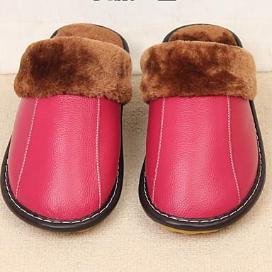 Papuci Damă Papuci / casa de papuci de casă Comun Piele Culoare solida