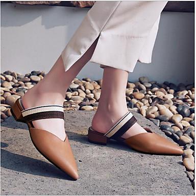 Mules Bout Confort 06752166 Marron amp; Bottier Chaussures Ruban Sabot Talon Cuir Eté Femme pointu Beige 6SYZnxS