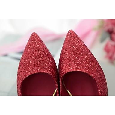 Aiguille Escarpin Femme Basique Polyuréthane 06765326 Noir Argent pointu Chaussures Rouge été Talons Marche Chaussures Printemps Talon à Bout wSrIqPS