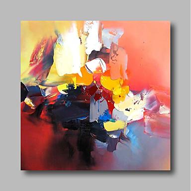 Hang-pictate pictură în ulei Pictat manual - Abstract Contemporan / Modern pânză