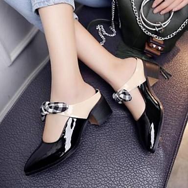 Noir Femme Verni fermé Cuir Printemps Nappa Sandales été 06770260 Bottier Chaussures Bout Confort Cuir Talon wwx1qCOIr