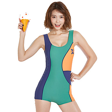 Dive&Sail Pentru femei Costum de baie Rezistența la clor, Exterior, Înaltă Elasticitate Nailon / Elastan Fără manșon Costume de Baie Costum de plajă Salopetă Peteci Exterior