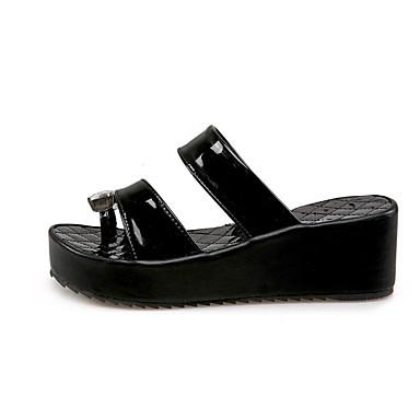 Eté Confort Chaussures Polyuréthane 06817241 Sandales Noir Blanc Creepers Femme EdtqZwW6t