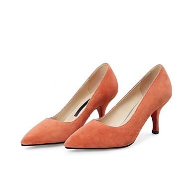 Femme 06785691 Orange Bout pointu mouton de à Talon Automne Aiguille Basique Talons Noir Chaussures Peau Printemps Chaussures Escarpin rSqaOrTwn1