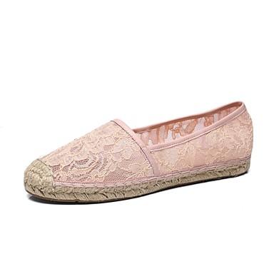 Talon Rose 06827609 Mocassins Chaussures D6148 Noir Plat et Printemps Amande Satin Chaussons été Confort Femme znFg7xn