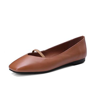 Sabot Plat Printemps Femme Confort Noir Cuir Talon Chaussures Beige Marron amp; Mules Nappa 06799819 w11tzXq