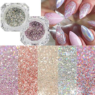 22pcs Suggerimenti Per Le Unghie Artificiali Glitter Per Disegni Alla Moda Manicure Manicure Pedicure Retrò Ricevimento Di Matrimonio - Da Tutti I Giorni #06834535