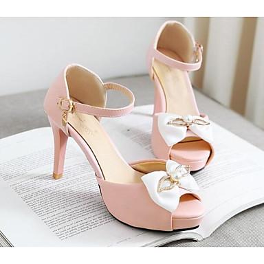 Sandales Femme Faux Cuir Basique 06817256 Aiguille Escarpin Chaussures Eté Rose Talon Confort ww0rB1q
