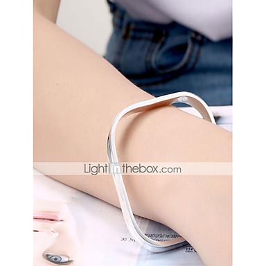 voordelige Herensieraden-Heren Bangles Dikke ketting Slang Eenvoudig Standaard Koper Armband sieraden Zilver Voor Dagelijks Werk / Verzilverd