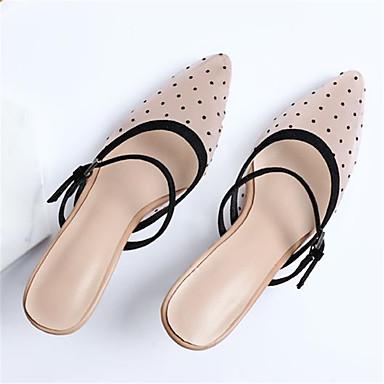 Rose Femme Maille Talon Chaussures 06791946 Mules Eté Basique Escarpin Aiguille pointu amp; Sabot Bout qTqrg7w