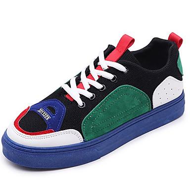 Žene Cipele Platno Ljeto Udobne cipele Sneakers Ravna potpetica Okrugli Toe Obala / Crvena / Plava