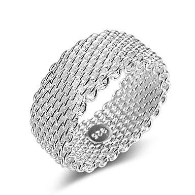 billige Motering-Par Ring Micro Pave Ring 1pc Sølv Sirkelformet damer Stilfull Klassisk Daglig Smykker Lasso