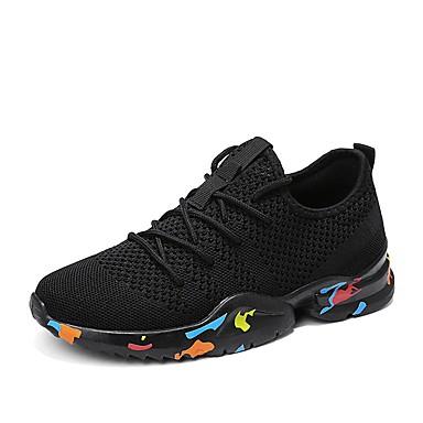 Muškarci Mrežica / PU Jesen Udobne cipele Sneakers Hodanje Obala / Crn