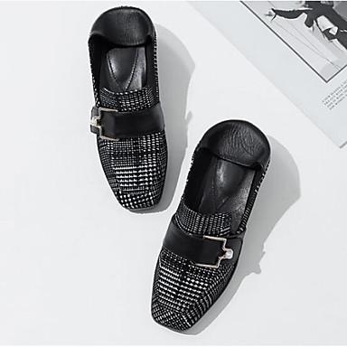 Printemps fermé Peau Chaussures 06832689 Bout Femme Daim Mocassins Confort de Noir Talon Chaussons Eté Rouge Bottier mouton et D6148 xqXx1BEZ