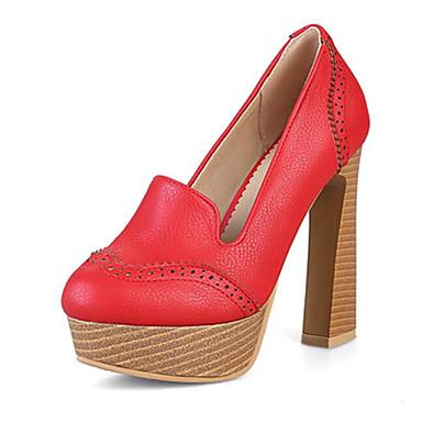 06794956 Femme à Basique Rouge Escarpin Confort Chaussures Printemps Argent Talons Chaussures Polyuréthane Talon Bottier RRgCaq