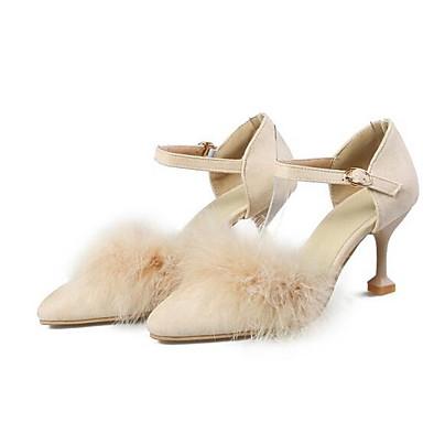 Negro 06832985 Almendra Confort Stiletto Primavera Ante Mujer Marrón Tacones Zapatos Tacón qx0Wzvw