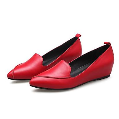 Cuir 06810688 Plat Talon Femme Chaussures Blanc Ballerines Confort Nappa Rouge Noir Printemps Tn7q5