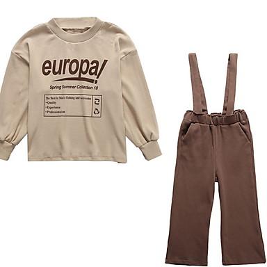 Djeca Djevojčice Jednobojni Dugih rukava Komplet odjeće