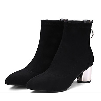 Bottine Botte Cuir la Mode Talon Bottier 06830318 Confort Noir à Nappa Demi Hiver Bottes Bottes Femme Chaussures 6xgTqg7