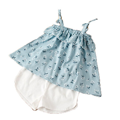 Dijete Djevojčice Print Bez rukávů Komplet odjeće