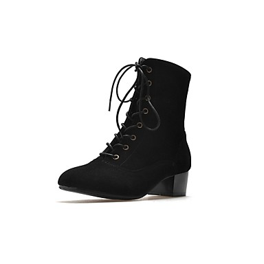 Confort Automne Block Heel Noir Kaki Gris Polyuréthane Bottes 06811055 Femme hiver Chaussures BqnxIYYpE