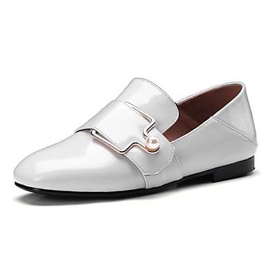 06832430 Blanc mouton Plat Chaussons Mocassins Bout de Marron Eté D6148 et Daim Printemps Noir Femme Peau fermé Chaussures Talon Confort nC1HqH