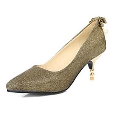 Talons 06785638 Basique Rose Heel amp; Printemps Polyuréthane Femme Escarpin Soirée Or Evénement Chaussures pointu Bout été Argent à Kitten Chaussures wqgZH8
