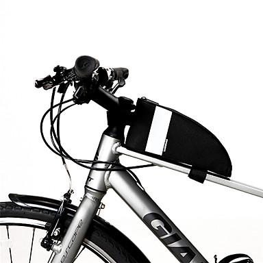 abordables Sacoches de Vélo-SAHOO Sac Cadre Velo 6.5 pouce Etanche Portable Cyclisme pour Cyclisme Tous Téléphone Portable Noir Cyclisme sur Route Cyclisme / Vélo