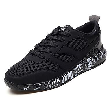 Muškarci PU / Elastična tkanina Ljeto Udobne cipele Atletičarke tenisice Trčanje Color block Sive boje / Crno Zlato / Crno-bijeli