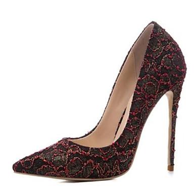 Femme Aiguille Noir Confort à Talon Chaussures Or 06797572 Maille Chaussures Vin Talons Printemps vvfHW
