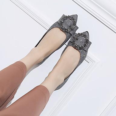 Puntiagudo Dedo Plano 06833355 Confort Zapatos Dorado Mujer Bailarinas Tacón PU Plateado Verano xnWw6nqR8a
